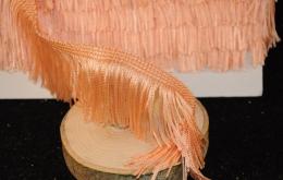 Frange acétate lavable 5cm saumon