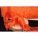 Frange acétate lavable 5cm orange