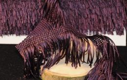 Frange acétate lavable 5cm aubergine