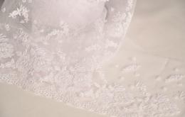 Broderie sur tulle 13cm blanc