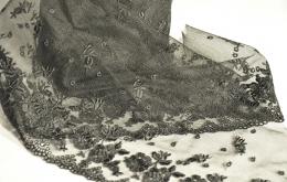 Broderie sur tulle 13cm noir