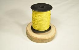 Cordon aspect cuir jaune