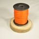 Cordon aspect cuir orange