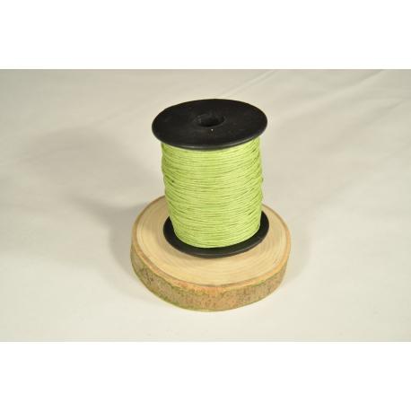 Cordon aspect cuir vert anis