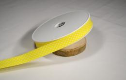 Biais imprimé pois coton jaune