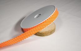 Biais imprimé pois coton orange