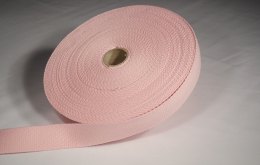 Sangle coton 30mm rose