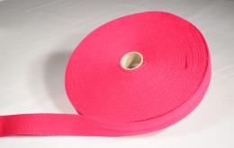 Sangle coton 30mm fuchsia