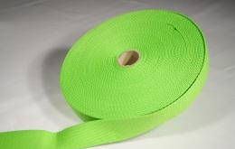 Sangle coton 30mm vert