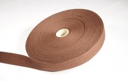 Sangle coton 30mm brun