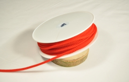 Cordon tricoté 4,5mm rouge
