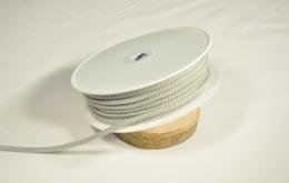Cordon tricoté 4,5mm gris clair