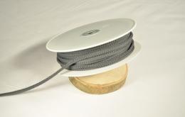 Cordon tricoté 4,5mm gris foncé