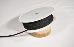 Cordon tricoté 4,5mm noir