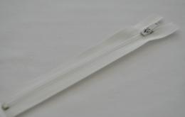 Fermeture éclair fine polyester non séparable ivoire