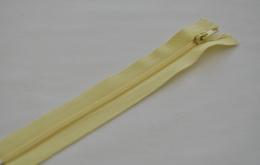 Fermeture éclair fine polyester non séparable jaune