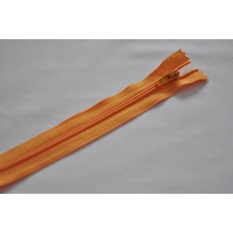 Fermeture éclair fine polyester non séparable abricot