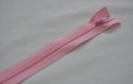 Fermeture éclair fine polyester non séparable rose