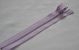 Fermeture éclair fine polyester non séparable lavande