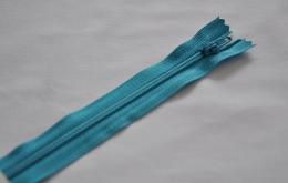 Fermeture éclair fine polyester non séparable turquoise