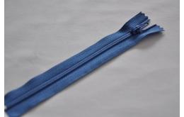 Fermeture éclair fine polyester non séparable bleu roi 557