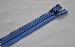 Fermeture éclair fine polyester non séparable bleu roi