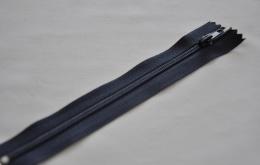 Fermeture éclair fine polyester non séparable marine