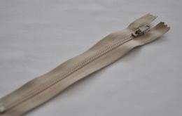 Fermeture éclair fine polyester non séparable beige