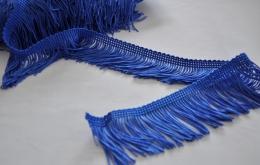 Frange acétate lavable 5cm bleu