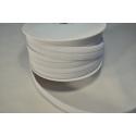 Elastique Bouton nylon 19mm blanc