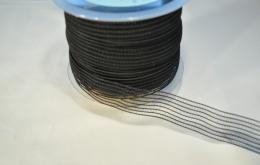 Grille élastique lingerie 25mm noir