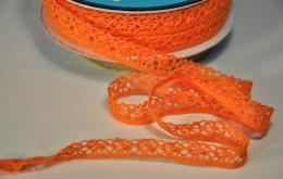 Galon dentelle orange