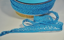 Galon dentelle turquoise