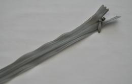 Fermeture éclair invisible non-séparable gris