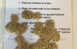 appliqués thermocollants ananas glitter dorés