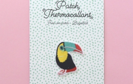 Ecusson thermocollant toucan