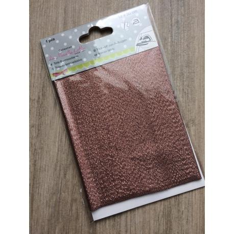Toile thermocollante lurex bronze