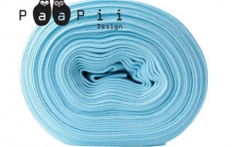 Bord-côte bio uni bleu clair
