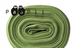 Bord-côte bio uni vert