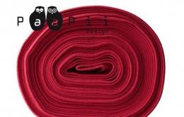 Bord-côte bio uni rouge