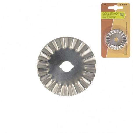 Recharge pour cutter rotatif - lame à cranter