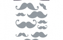 Sticker textile moustaches Aladine