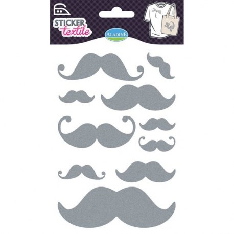 Sticker textile moustaches Aladine