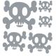 Sticker textile têtes de mort  Aladine