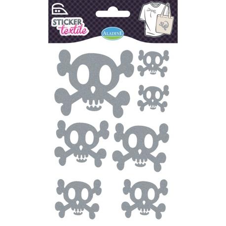 Sticker textile renards Aladine