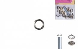 Pressions métal 9,5mm + outils