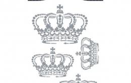 Sticker textile couronne Aladine