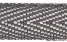 Sergé coton bicolore gris noir