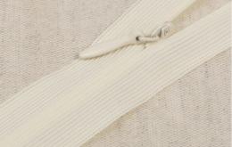 Fermeture éclair invisible non-séparable ivoire