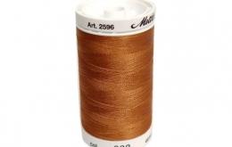 Fil à broder polysheen marron 200 m coloris 932